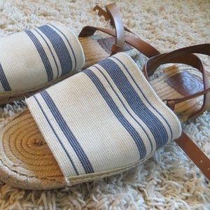 Tory Burch Stretch Canvas Espadrille Sandals